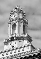 Oakland - City Hall Clock Tower (BW)
