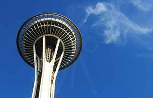 Seattle - Space Needle and Cloud