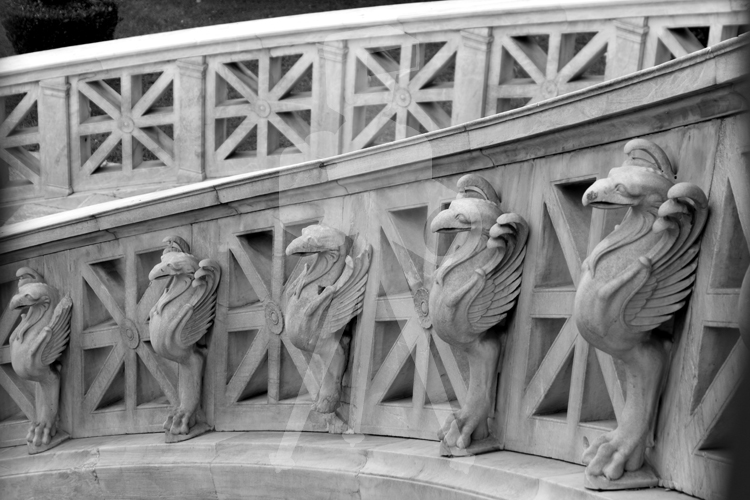 Athens Library Steps - BW